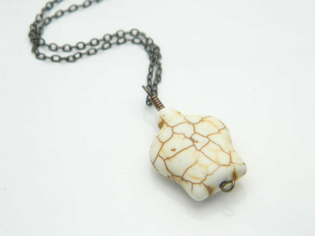 Turtle Necklace. White Rustic Brown Kids, Girl Necklace. Jewelry Necklace, Turtle Kids Jewelry