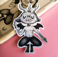 "Sticker ""Baby baphomet"""