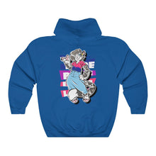 Load image into Gallery viewer, Mandy The Bisexual Pride Snow Leopard - Hoodie