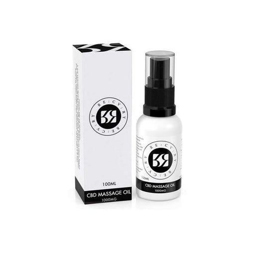 10ml bottle of 1000mg CBD massage oil by RE:CV:RY