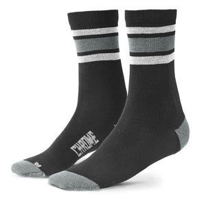 MERINO CREW SOCKS ACCESSORIES chromeindustries BLACK/CASTLE ROCK M