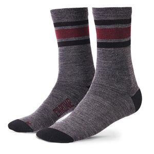 MERINO CREW SOCKS ACCESSORIES chromeindustries CHARCOAL/ANDORRA M