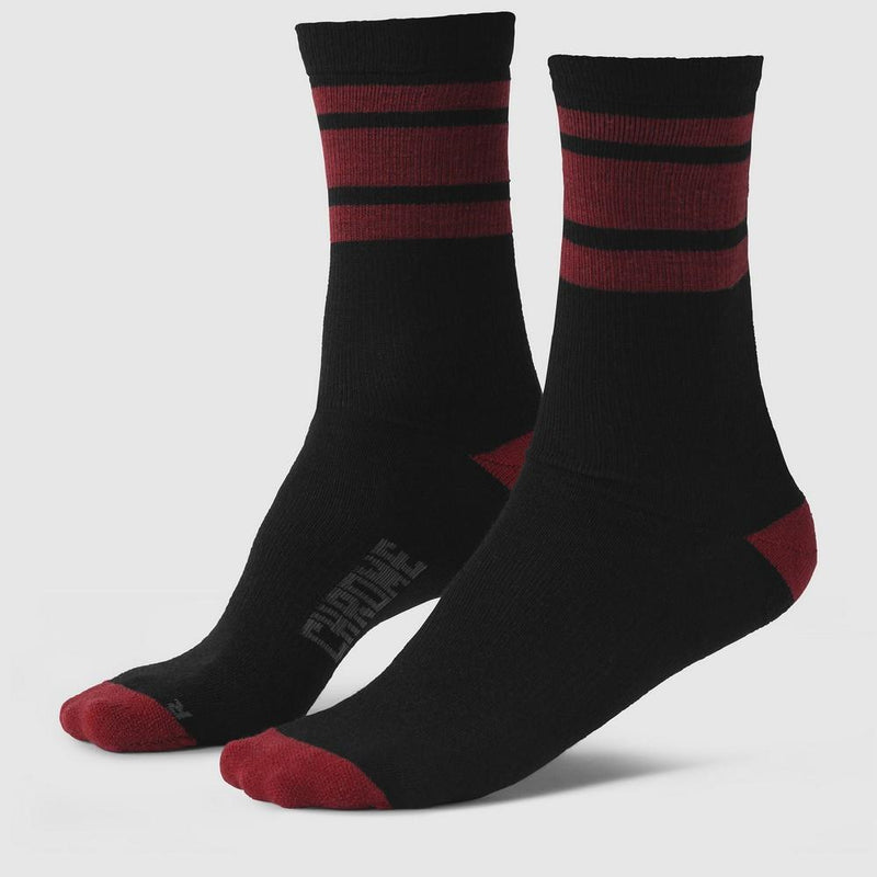 STRIPED SOCKS(SALE) ACCESSORIES chromeindustries BLACK/RED S