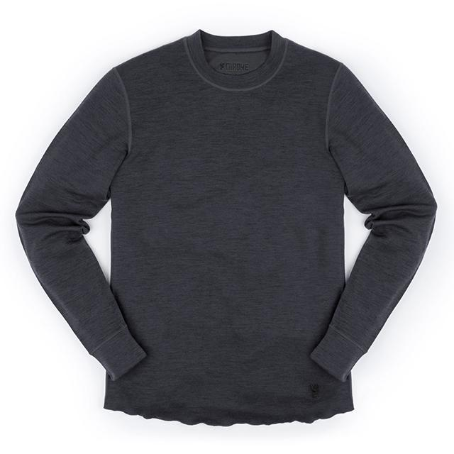 WOOL CREWNECK LS SHIRT(SALE) CLOTHING chromeindustries CHARCOAL M