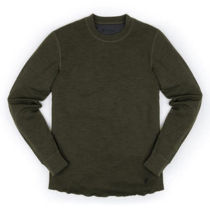 WOOL CREWNECK LS SHIRT(SALE) CLOTHING chromeindustries OLIVE LEAF M