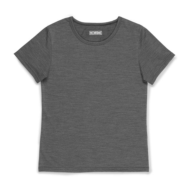 MERINO SS TEE - W S(SALE) CLOTHING chromeindustries CHARCOAL XS