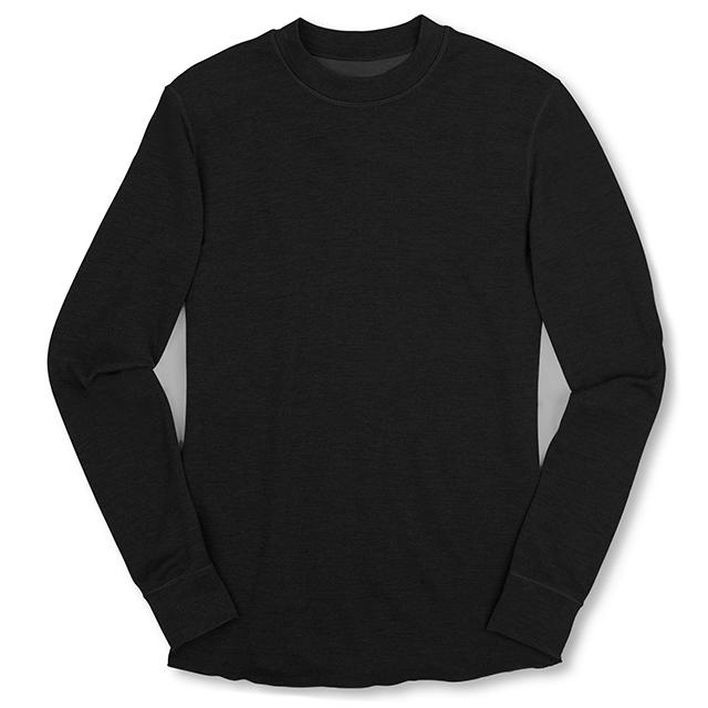 WOOL CREWNECK LS SHIRT(SALE) CLOTHING chromeindustries BLACK S