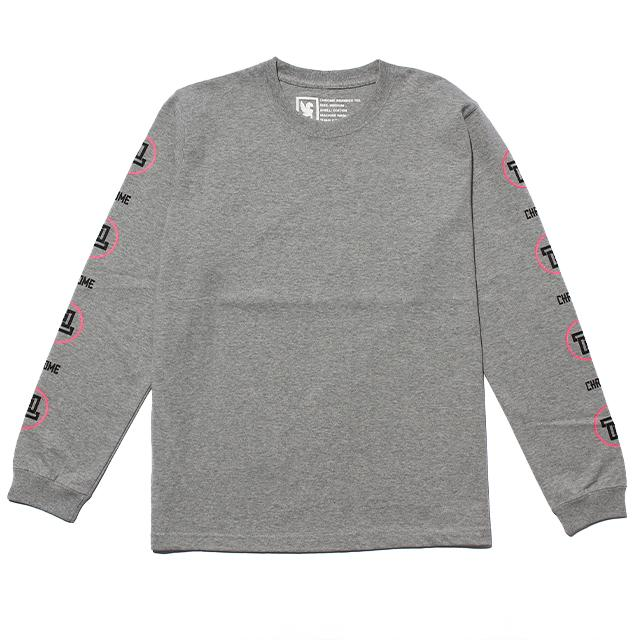 C-CROSS L/S TEE CLOTHING chromeindustries MIX GREY S
