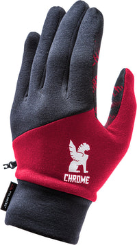 POWER STRECH GLOVE ACCESSORIES chromeindustries BLACK/RED SM
