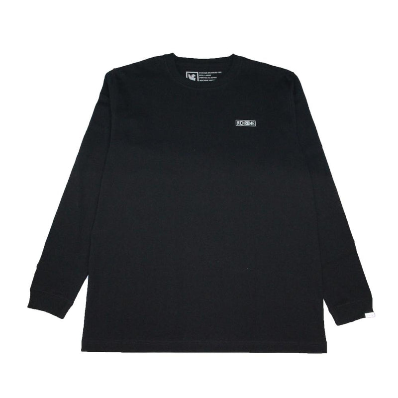 CRACKS BOX BACK PRINT L/S TEE CLOTHING chromeindustries BLACK S