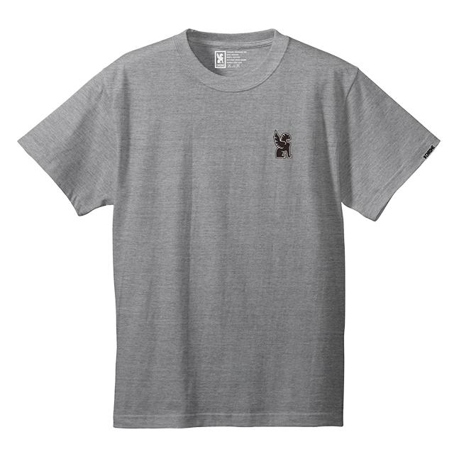 SYMBOL POINT TEE(SALE) CLOTHING chromeindustries MIX GREY S