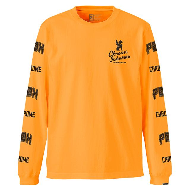 7★QUALITY PDX NEON ED L/S TEE(SALE) CLOTHING chromeindustries ORANGE S