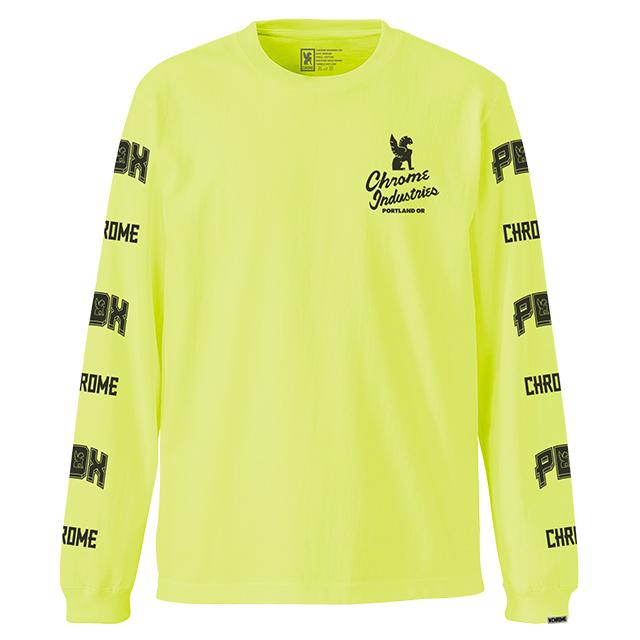7★QUALITY PDX NEON ED L/S TEE(SALE) CLOTHING chromeindustries YELLOW S