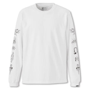 STREET SIGNS L/S TEE(SALE) CLOTHING chromeindustries WHITE S