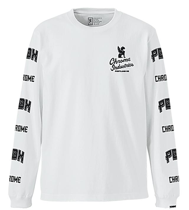 ★★★★★★★QUALITY PDX ED. L/S TEE(SALE) CLOTHING chromeindustries WHITE S
