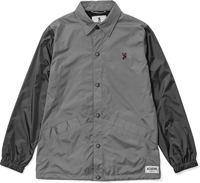 SYMBOL POINT COACH JACKET(SALE) CLOTHING chromeindustries GREY/BLACK S