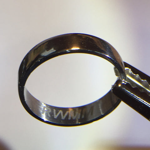 RWMM iridium ring -- inner etch