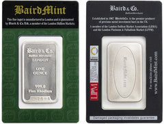 Baird one ounce rhodium bar