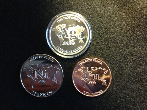 RWMM copper, nickel and silver rounds