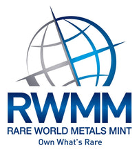 Rare World Metals Mint logo with tagline