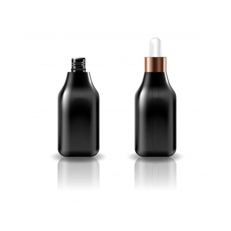 Black Glass Bottle Droppers