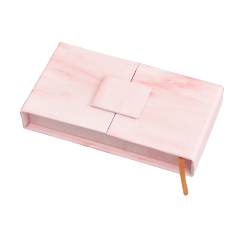 3D Mink Lash Box with Logo - Pink Marble