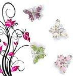 4 Crystal Fantasy Butterfly Pin Set Jewelry - AttractionOil.com
