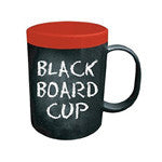 Chalk Board Coffee Mug (Red Band) Drinkware - AttractionOil.com