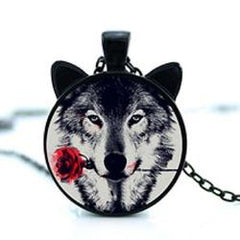 Black Wolf Ears Necklace Jewelry - AttractionOil.com
