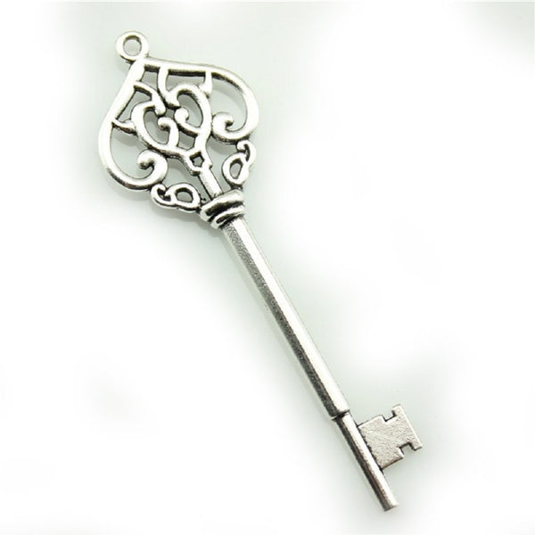 Silver Key Necklace  - AttractionOil.com