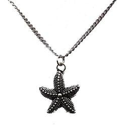 Starfish Silver Pendant Necklace Jewelry - AttractionOil.com