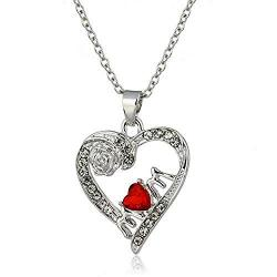 Rose Heart Mom Pendant Jewelry - AttractionOil.com