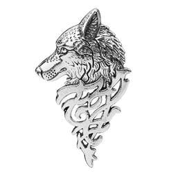 Vintage Silver Wolf Song Lapel Pin Jewelry - AttractionOil.com