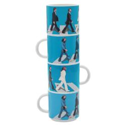 The Beatles Abbey Road 4 Piece Ceramic Stacking Mug Set