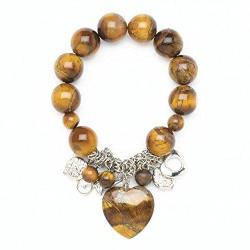 Tigers Eye Heart Stretch Bracelet Jewelry - AttractionOil.com