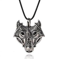 Norse Wolf Head Pendant Necklace Jewelry - AttractionOil.com