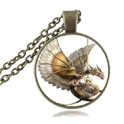 Steampunk Dragon Necklace