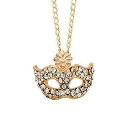 Gold Crystal Mask Necklace Jewelry - AttractionOil.com