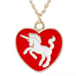 Unicorn Heart Pendant Necklace