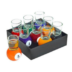 Pool Ball Shot Glass Set Drinkware - AttractionOil.com