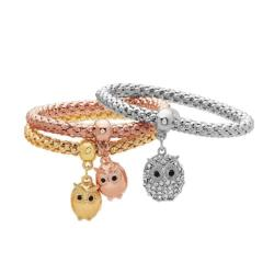 Triple Owl Charm Bracelets Jewelry - AttractionOil.com