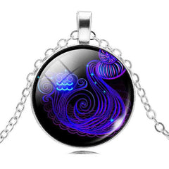 Astrology Sign Constellation Pendant Necklace