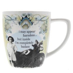 """I may appear harmless..but inside I'm completely badass"" Porcelain Mug Drinkware - AttractionOil.com"