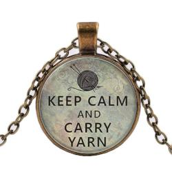 Keep Calm and Carry Yarn Necklace