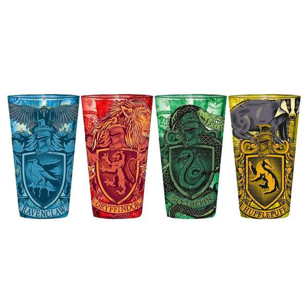 Harry Potter House Sigil Pint Glass Set