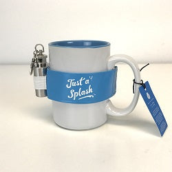 'Just a Splash' 16 oz Mug With 1 oz Stainless Steel Flask Attached