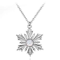 Snowflake Frozen Crystal Necklace