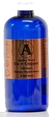 32 oz Copper Supplement by Angstrom Minerals 150 ppm
