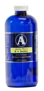 32 oz Sulfur Supplement BY Angstrom Minerals 2000 ppm