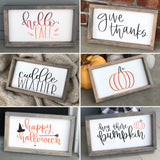 Hello Fall Banner Sign